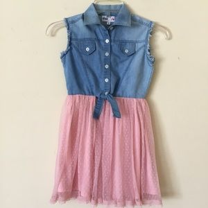 Freestyle Girl's Dress Sleeveless Tulle Skirt Sz 8